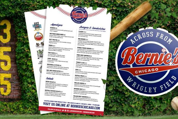 Bernie's Tap & Grill Menu